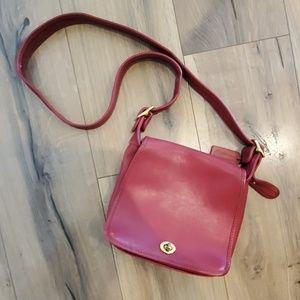 Rare Red Vintage Coach Crossbody Bag